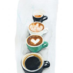Lauren Maria Hill Artist Coffee Cups Watercolour Bristol
