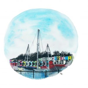 The Marina by Lauren Maria Hill Bristol Artist